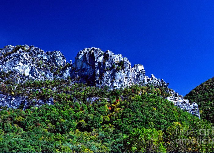 West Virginia Greeting Card featuring the photograph Seneca Rocks National Recreational Area by Thomas R Fletcher