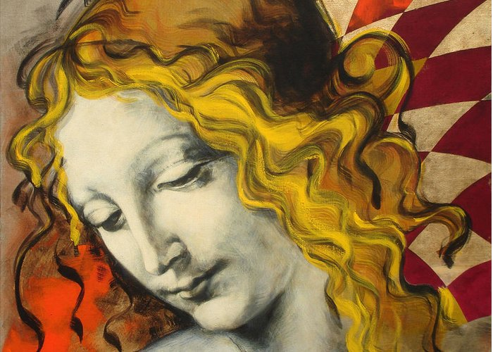 Classical Greeting Card featuring the painting Sensuali by Jean Pierre Rousselet