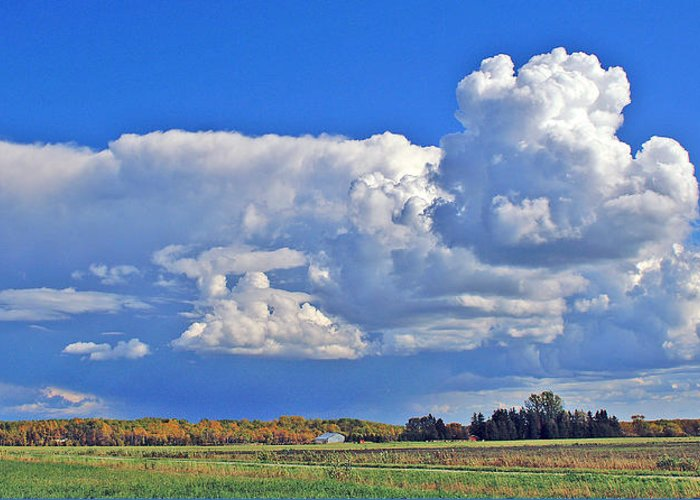 Landscape Greeting Card featuring the photograph September Clouds by Bill Morgenstern
