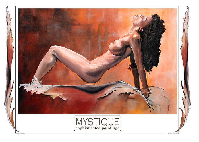Girl Greeting Card featuring the painting September Mystique by Harri Spietz