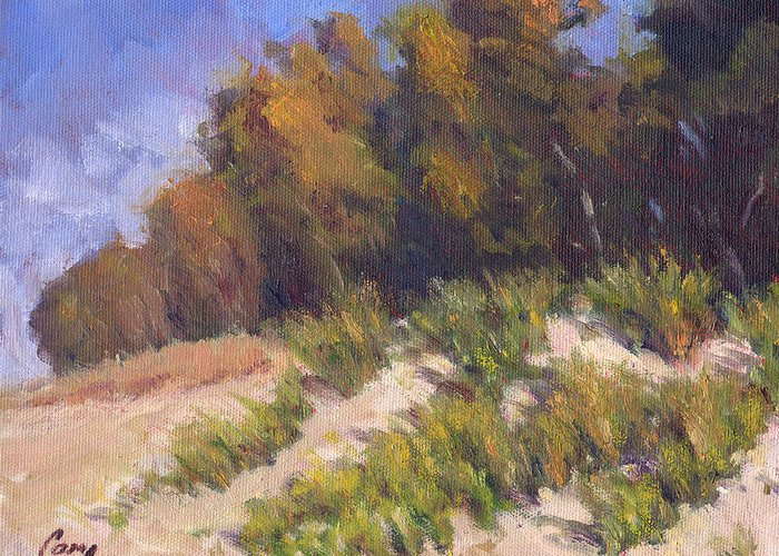 September Greeting Card featuring the painting September Song by Michael Camp
