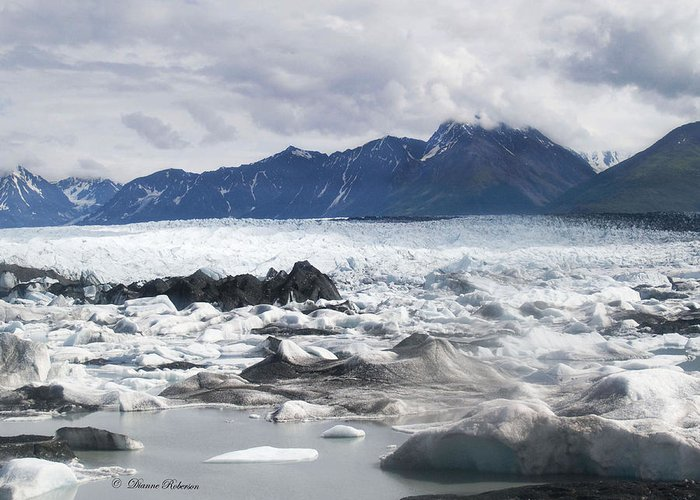 Alaska Greeting Card featuring the photograph September's Knik Glacier by Dianne Roberson