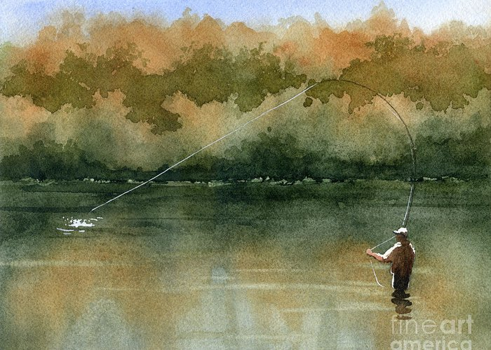 Angling Greeting Cards
