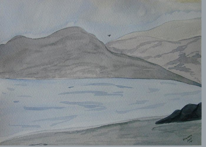 Landscape Greeting Card featuring the painting Serenity by Liz Vernand