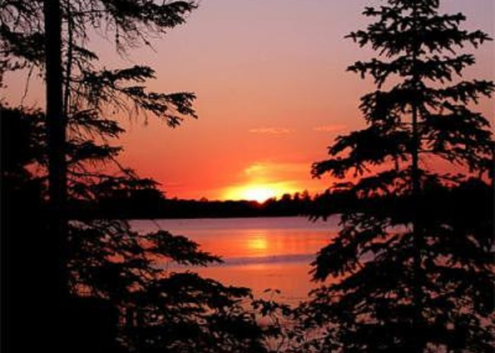 Sunset Greeting Card featuring the photograph Serenity by Walter Graff
