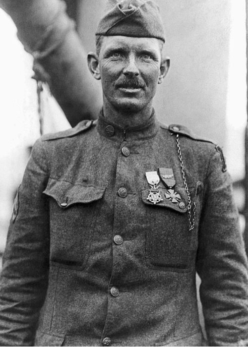 Alvin York Greeting Card featuring the photograph Sergeant York - World War I Portrait by War Is Hell Store