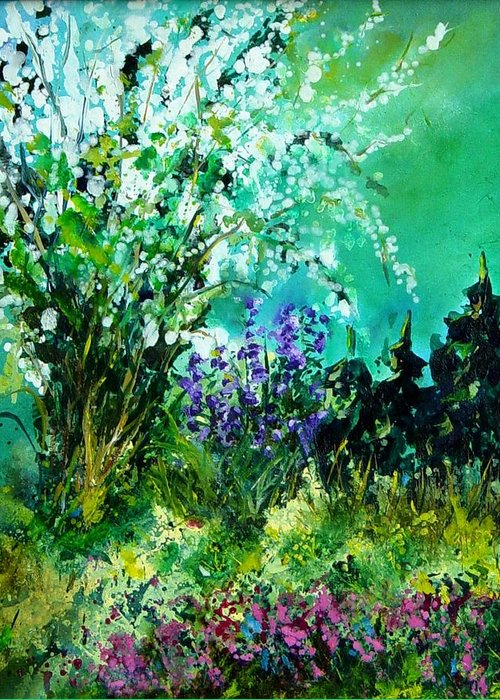 Tree Greeting Card featuring the painting Seringa by Pol Ledent