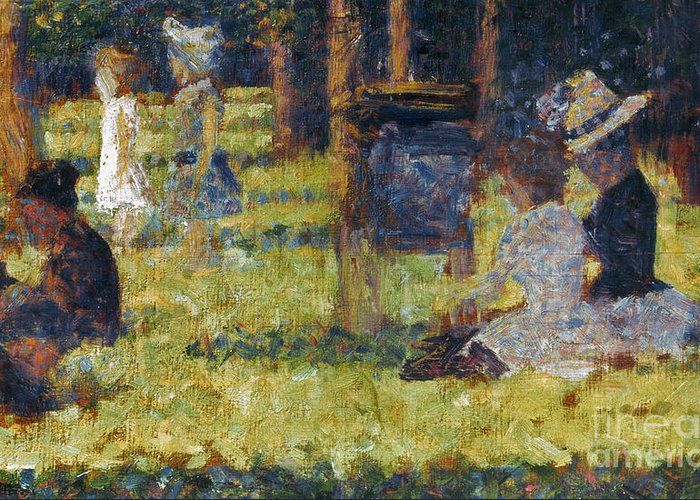 1884 Greeting Card featuring the photograph Seurat: Grande Jatte, 1884 by Granger