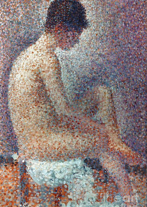 1887 Greeting Card featuring the photograph Seurat: Model, 1887 by Granger