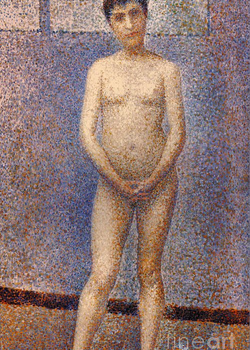 1887 Greeting Card featuring the photograph Seurat: Model, C1887 by Granger