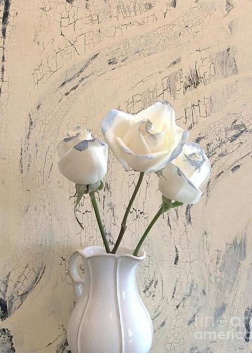 Photo Greeting Card featuring the photograph Shabbi Chic Roses by Marsha Heiken