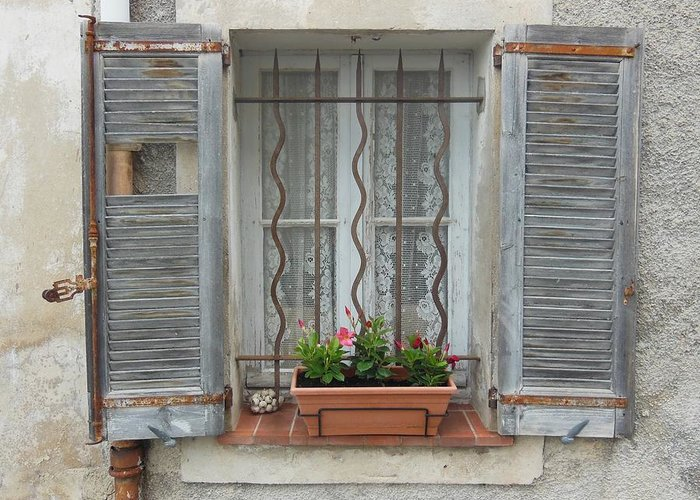 Broken Shutters Greeting Cards