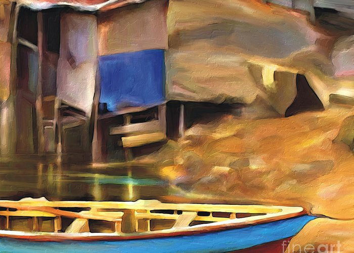 Impressionism Greeting Card featuring the painting Shada District by Bob Salo