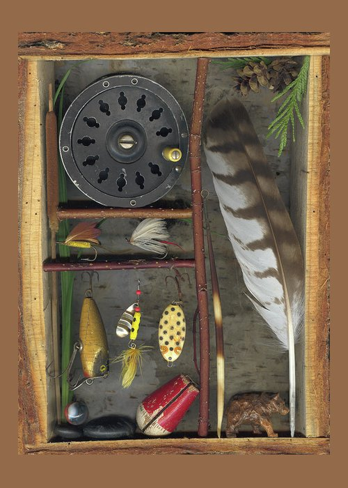 Shadow Box Greeting Card featuring the mixed media Shadow Box A by Sandi F Hutchins