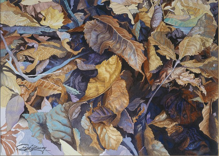 Autumn Greeting Card featuring the painting Shadowland by Craig Gallaway