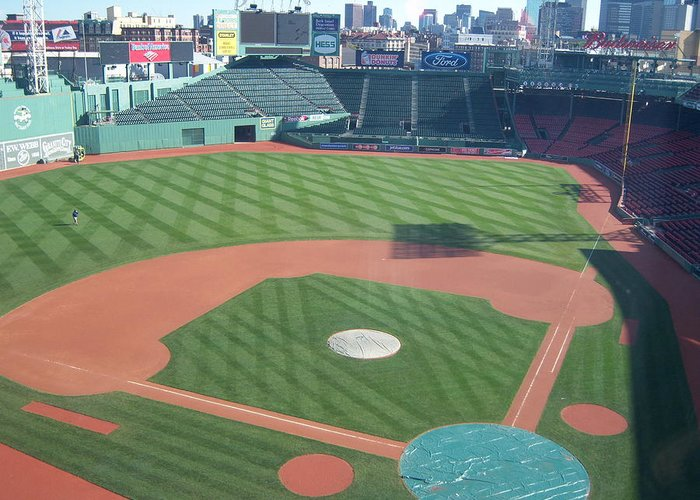 Fenway Park Greeting Card featuring the photograph Shadows Of Fenway Park by Tracy Dugas