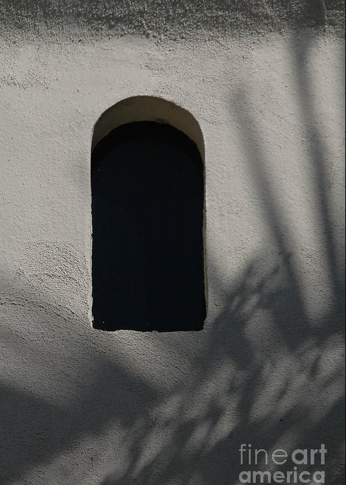 Window Greeting Card featuring the photograph Shadows On The Wall by Michael Ziegler