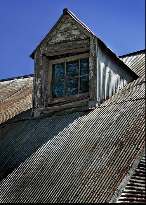 Rustic Greeting Card featuring the photograph Shadows Reflections And Lines by Murray Bloom