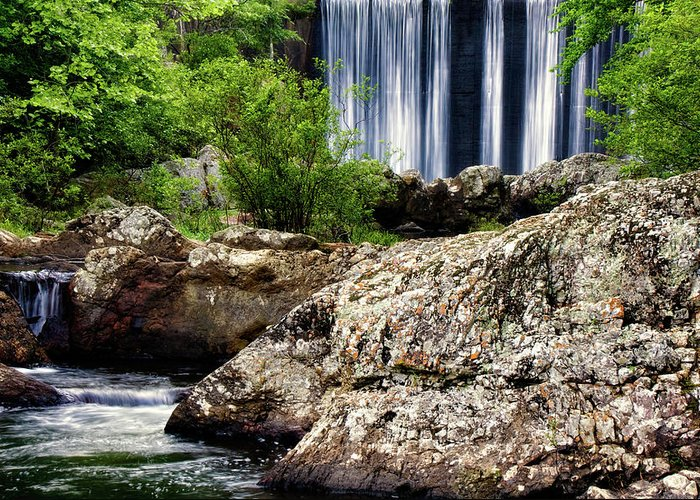 Arkansas Greeting Card featuring the photograph Shady Lake Falls by Lana Trussell