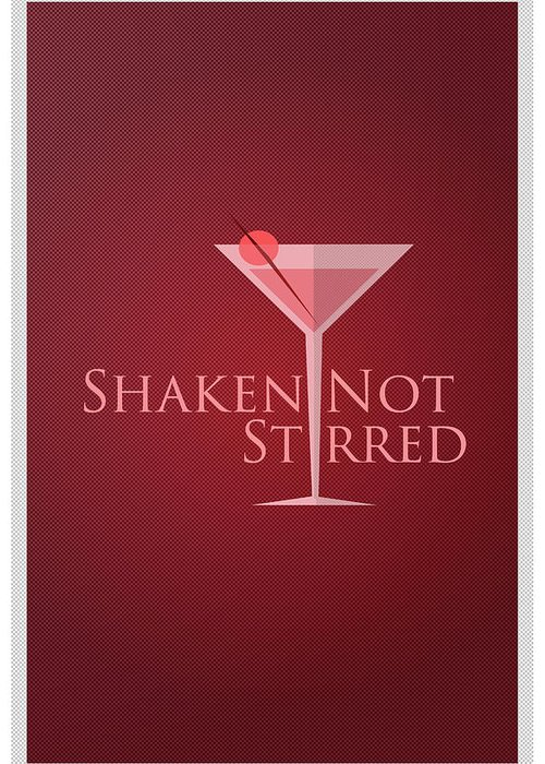 Greeting Card featuring the digital art Shaken Not Stirred by Purbawa ART