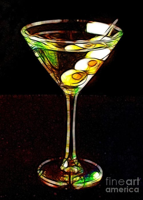 Alcohol Greeting Card featuring the photograph Shaken Not Stirred by Wingsdomain Art and Photography