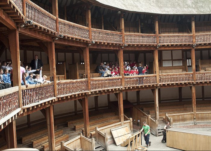 Shakespeare Glove Greeting Card featuring the photograph Shakespeare's Globe Theater C378 by Charles Ridgway