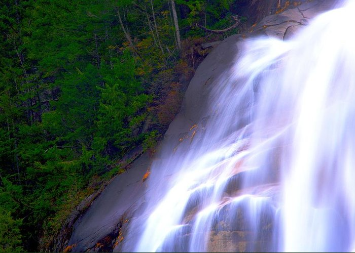 Waterfall Greeting Card featuring the photograph Shannon Falls by Paul Kloschinsky