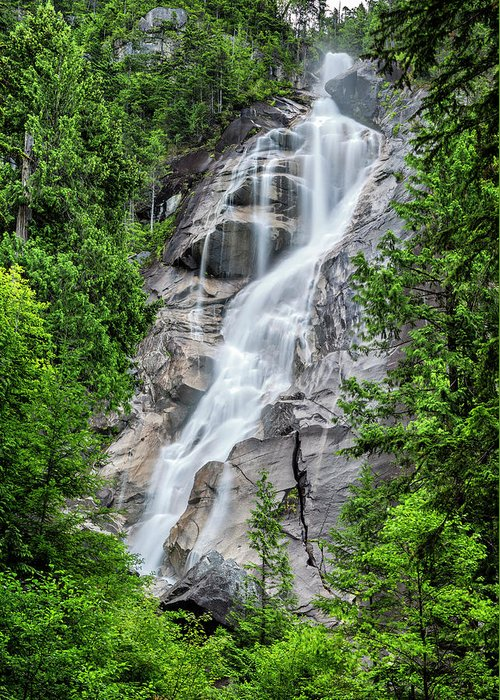 Shannon Falls Greeting Card featuring the photograph Shannon Falls by Stephen Stookey