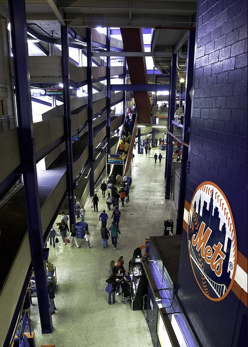 Baseball Greeting Card featuring the photograph Shea Stadium Walkways by Paul Plaine