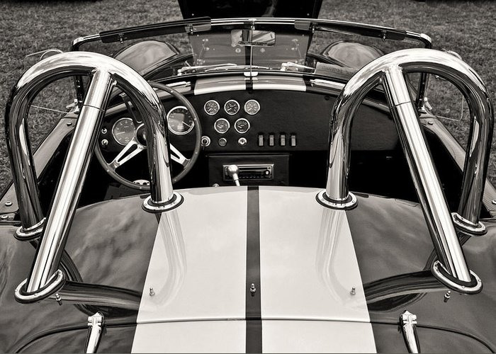 Automobile Greeting Card featuring the photograph Shelby Cobra by Scott Wood