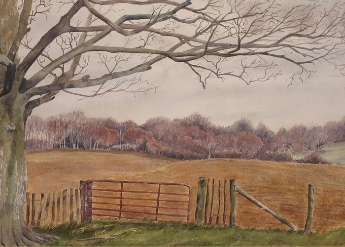England Greeting Card featuring the painting Shelter by Debbie Homewood