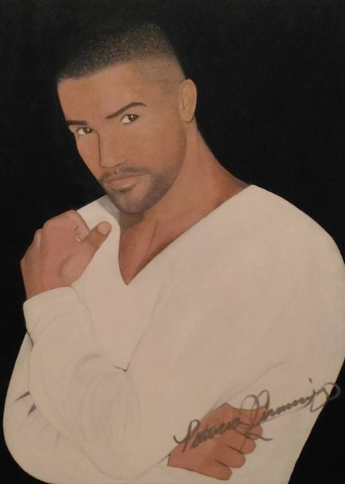 Shemar Moore Greeting Card For Sale By Patricia Brewer Cummings