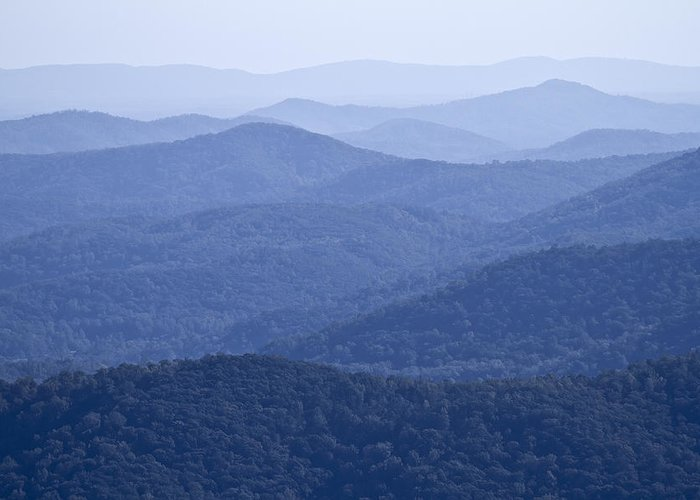 Shenandoah Greeting Card featuring the photograph Shenandoah Mountains by Pierre Leclerc Photography