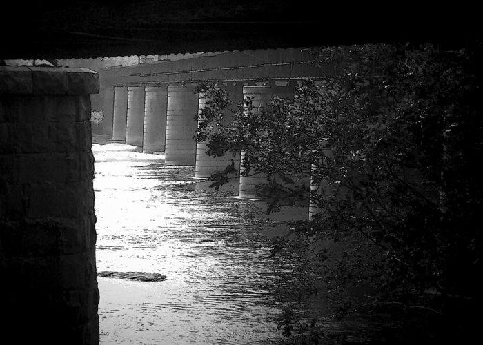 Shenandoah River Greeting Card featuring the photograph Shenandoah Train Bridge by Michael L Kimble