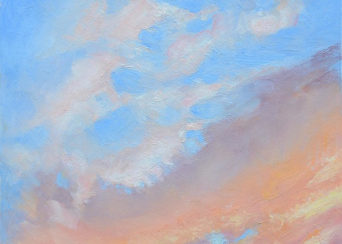 Oil Greeting Card featuring the painting Poet's Sky by Mary Chant