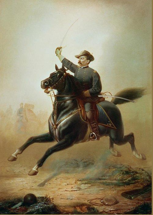 Sheridan Greeting Card featuring the painting Sheridan's Ride by Thomas Buchanan Read