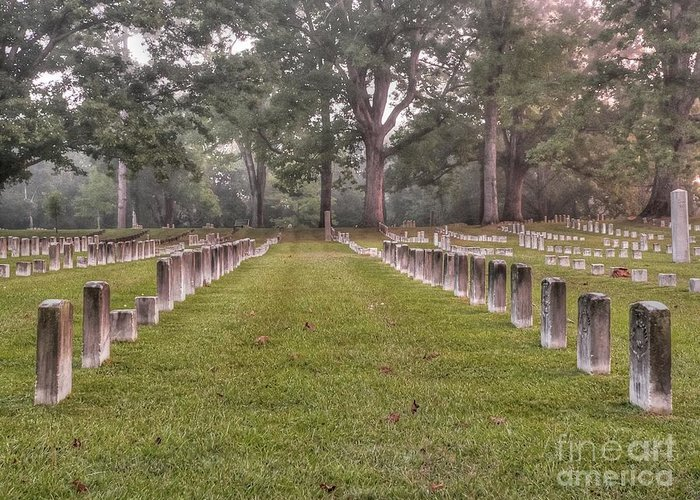 Shiloh National Cemetery Greeting Card featuring the photograph Shiloh Morning by David Bearden