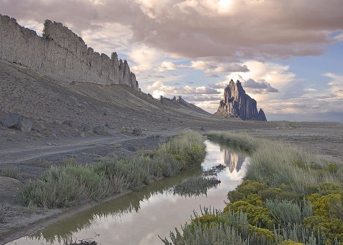 Shiprock Greeting Card featuring the photograph Ship Rock Following A Storm by Bob Ayre