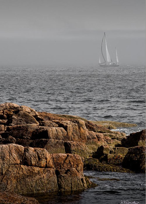 Ships Harbor Greeting Card featuring the photograph Ships Harbor In Maine by James Dricker