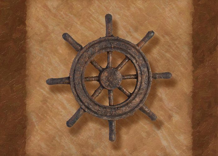 Wheel Greeting Card featuring the photograph Ship's Wheel by Tom Mc Nemar