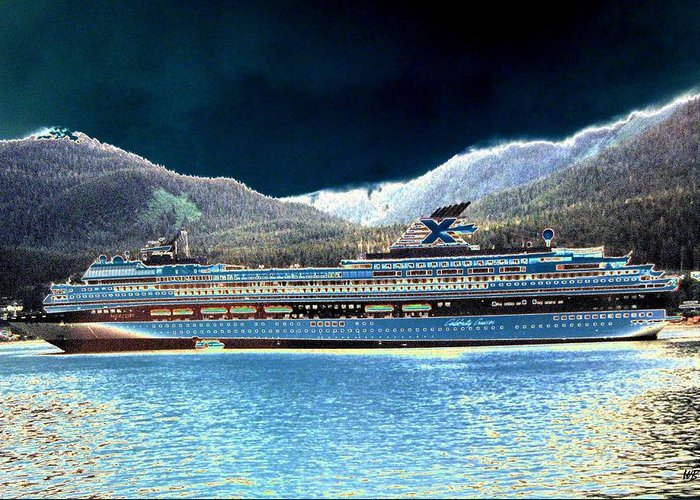 Juneau Greeting Card featuring the digital art Shipshape 10 by Will Borden