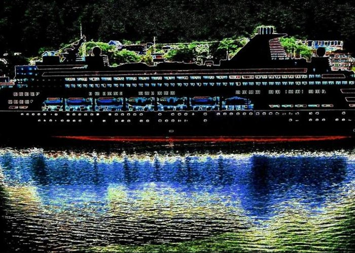 Juneau Greeting Card featuring the digital art Shipshape 8 by Will Borden