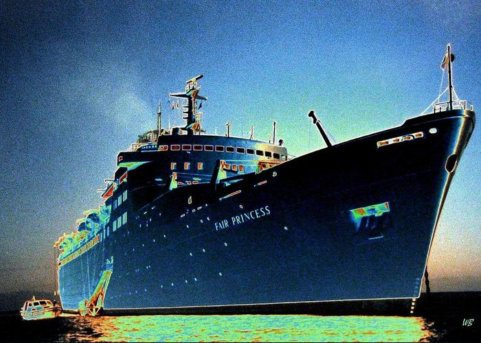 Puerto Vallarta Greeting Card featuring the digital art Shipshape 9 by Will Borden