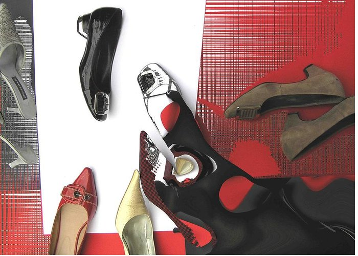 Shoes Greeting Card featuring the photograph Shoe Fetishism 1 by Evguenia Men