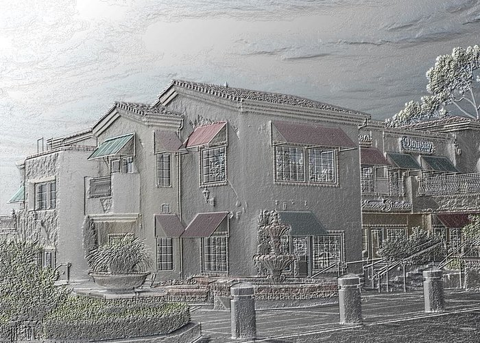 Shopping Mall Greeting Card featuring the photograph Shopping Mall Laguna Hills by Arline Wagner
