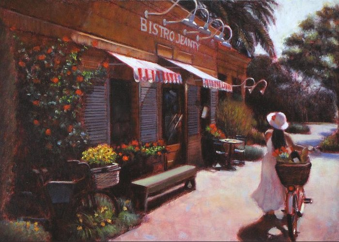 Wine Greeting Card featuring the painting Shopping Wine In Napa Valley by Takayuki Harada