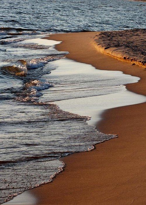 Sunset Greeting Card featuring the photograph Shore Of Lake Michigan by Sheli Kesteloot