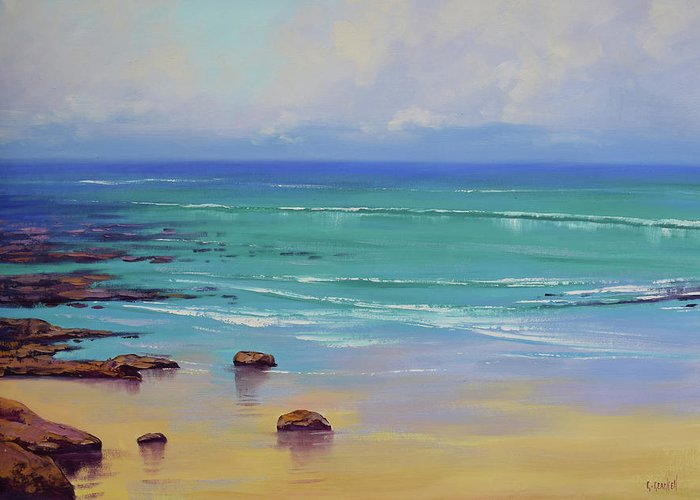 Nature Greeting Card featuring the painting Shoreline Colors by Graham Gercken
