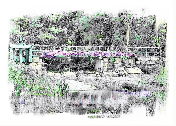 Bridge Greeting Card featuring the photograph Shorey Park Bridge by Rose Guay