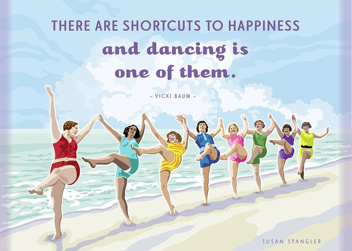 Beach House Greeting Card featuring the digital art Shortcuts To Happiness by Susan Spangler